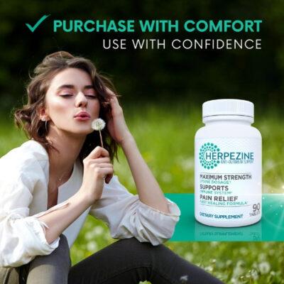 Herpezine Herpes treatment promotional image