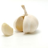 Garlic that has been broken open